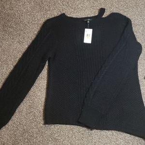 Womens Black Asymetrical sweather